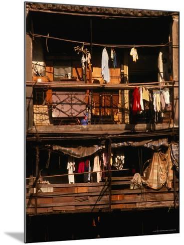 Balconies of Apartment Building in Sheung Wan, Hong Kong-Dallas Stribley-Mounted Photographic Print