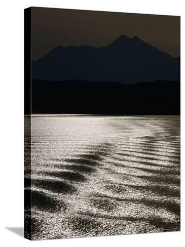 Sea with Highlands in Background, United Kingdom-Martin Moos-Stretched Canvas Print