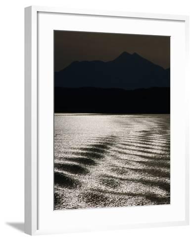Sea with Highlands in Background, United Kingdom-Martin Moos-Framed Art Print