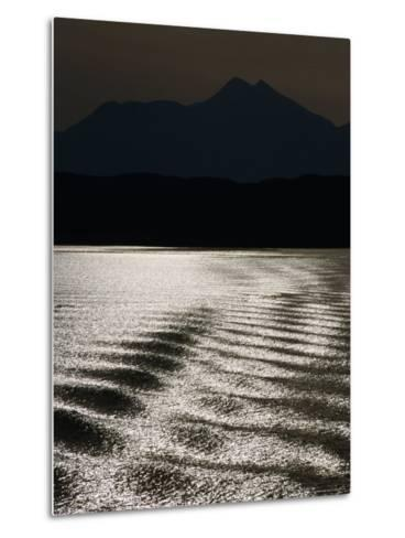 Sea with Highlands in Background, United Kingdom-Martin Moos-Metal Print