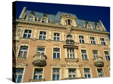 Facade of Art-Nouveau Building, Lodz, Lodzkie, Poland-Krzysztof Dydynski-Stretched Canvas Print