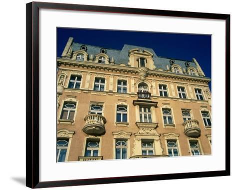 Facade of Art-Nouveau Building, Lodz, Lodzkie, Poland-Krzysztof Dydynski-Framed Art Print