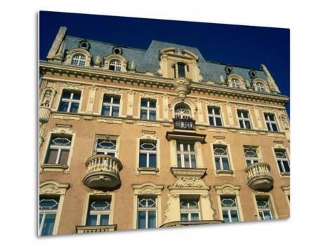 Facade of Art-Nouveau Building, Lodz, Lodzkie, Poland-Krzysztof Dydynski-Metal Print