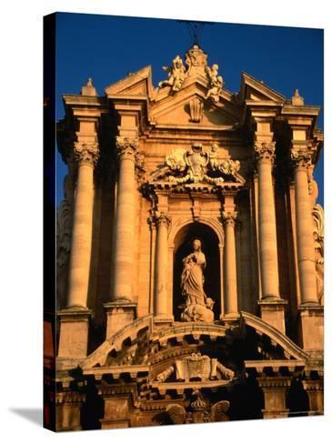 Baroque Facade of Il Duomo, Syracuse, Sicily, Italy-Diana Mayfield-Stretched Canvas Print