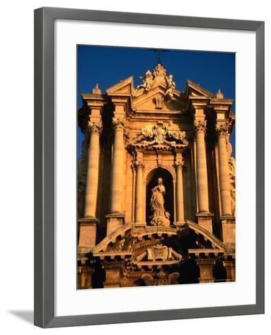 Baroque Facade of Il Duomo, Syracuse, Sicily, Italy-Diana Mayfield-Framed Art Print