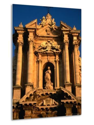Baroque Facade of Il Duomo, Syracuse, Sicily, Italy-Diana Mayfield-Metal Print