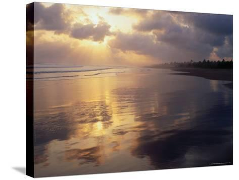 Clouds Over Pangandaran Beach, Java, Central Java, Indonesia-Glenn Beanland-Stretched Canvas Print