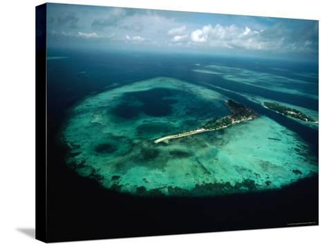 Aerial View of Islands and Reefs in the Java Sea, Indonesia-Nicholas Pavloff-Stretched Canvas Print