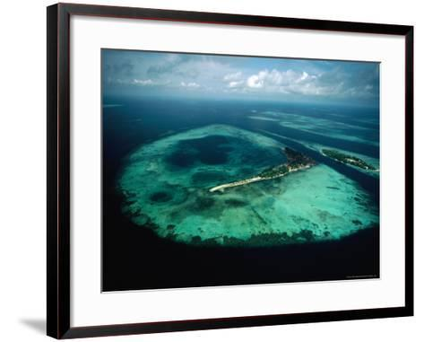 Aerial View of Islands and Reefs in the Java Sea, Indonesia-Nicholas Pavloff-Framed Art Print