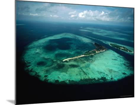 Aerial View of Islands and Reefs in the Java Sea, Indonesia-Nicholas Pavloff-Mounted Photographic Print
