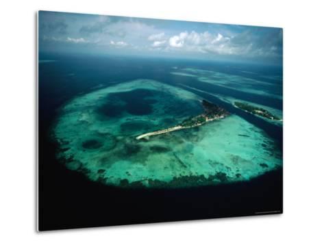 Aerial View of Islands and Reefs in the Java Sea, Indonesia-Nicholas Pavloff-Metal Print