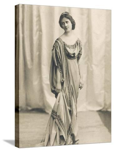 Isadora Duncan American Dancer in a Long Robe--Stretched Canvas Print
