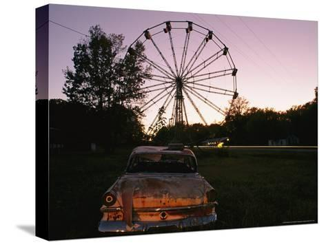 An Abandoned Amusement Park at Twilight-Randy Olson-Stretched Canvas Print