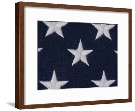 An Exteme Close-up of the Stars on an American Flag-Todd Gipstein-Framed Art Print