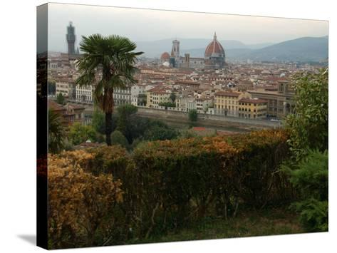 Aerial View of Florence Italy-Keith Levit-Stretched Canvas Print