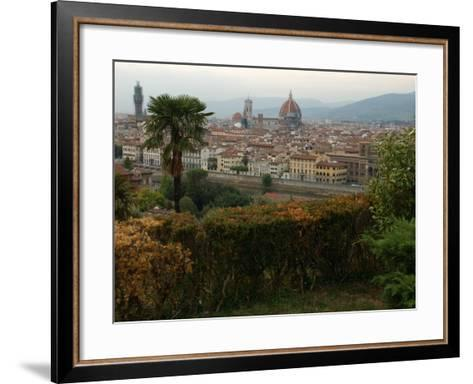 Aerial View of Florence Italy-Keith Levit-Framed Art Print