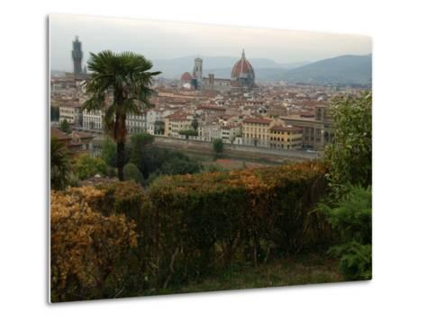 Aerial View of Florence Italy-Keith Levit-Metal Print