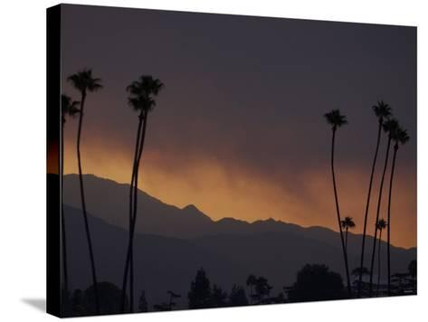 Sunrise in the San Gabriel Mountains Santa Anita 24th, October 2003--Stretched Canvas Print