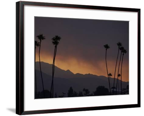 Sunrise in the San Gabriel Mountains Santa Anita 24th, October 2003--Framed Art Print