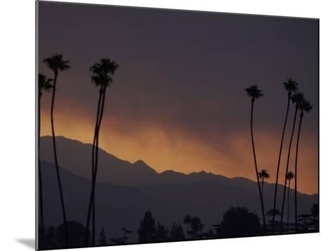 Sunrise in the San Gabriel Mountains Santa Anita 24th, October 2003--Mounted Photographic Print