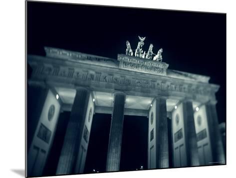 Brandenburg Gate at Night, Berlin, Germany-Jon Arnold-Mounted Photographic Print