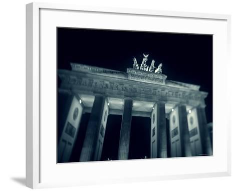 Brandenburg Gate at Night, Berlin, Germany-Jon Arnold-Framed Art Print