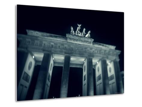 Brandenburg Gate at Night, Berlin, Germany-Jon Arnold-Metal Print