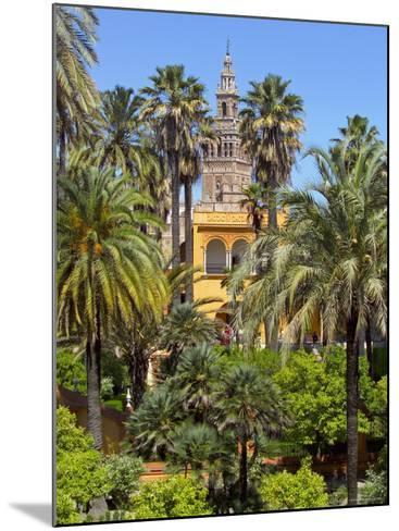 Giralda Tower Seen from Alcazar Gardens, Seville, Spain-Alan Copson-Mounted Photographic Print