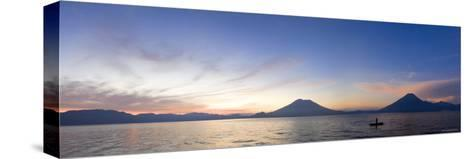 Toliman, Atitlan and San Pedro Volcanoes, Lake Atitlan, Guatemala-Michele Falzone-Stretched Canvas Print