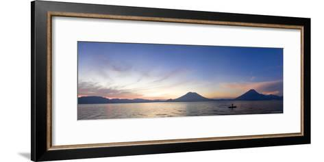 Toliman, Atitlan and San Pedro Volcanoes, Lake Atitlan, Guatemala-Michele Falzone-Framed Art Print