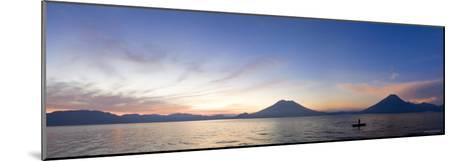 Toliman, Atitlan and San Pedro Volcanoes, Lake Atitlan, Guatemala-Michele Falzone-Mounted Photographic Print