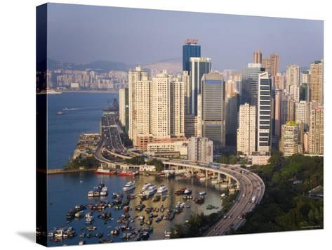 Asia, Hong Kong, Causeway Bay, High Rise Apartment Buildings-Gavin Hellier-Stretched Canvas Print