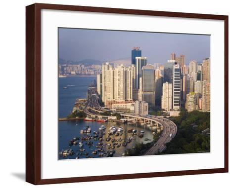 Asia, Hong Kong, Causeway Bay, High Rise Apartment Buildings-Gavin Hellier-Framed Art Print