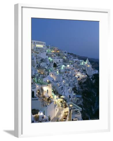 Thira, Santorini , Cyclades Islands, Greece-Steve Vidler-Framed Art Print