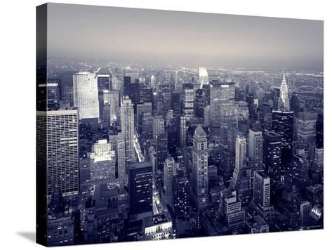 Manhattan Skyline at Night, New York City, USA-Jon Arnold-Stretched Canvas Print