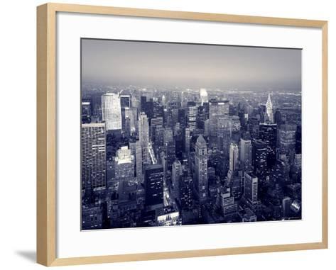 Manhattan Skyline at Night, New York City, USA-Jon Arnold-Framed Art Print