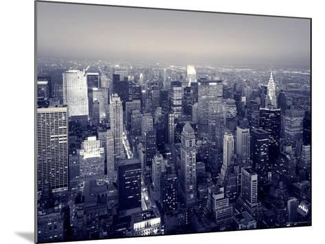 Manhattan Skyline at Night, New York City, USA-Jon Arnold-Mounted Photographic Print