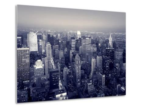 Manhattan Skyline at Night, New York City, USA-Jon Arnold-Metal Print