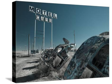 USA, Texas, Route 66, Conway Bug Ranch, Made of VW Beetles-Alan Copson-Stretched Canvas Print