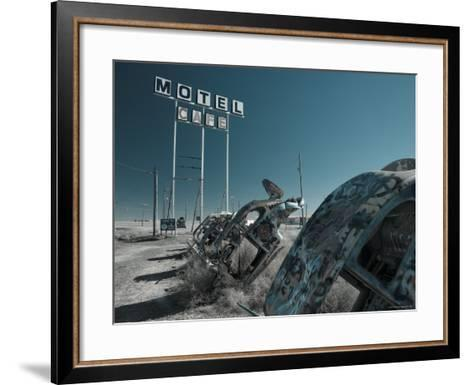 USA, Texas, Route 66, Conway Bug Ranch, Made of VW Beetles-Alan Copson-Framed Art Print