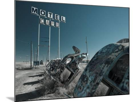 USA, Texas, Route 66, Conway Bug Ranch, Made of VW Beetles-Alan Copson-Mounted Photographic Print