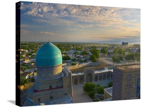The Blue Domes of the Registan, Samarkand, Uzbekistan-Michele Falzone-Stretched Canvas Print