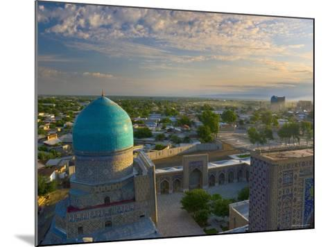 The Blue Domes of the Registan, Samarkand, Uzbekistan-Michele Falzone-Mounted Photographic Print