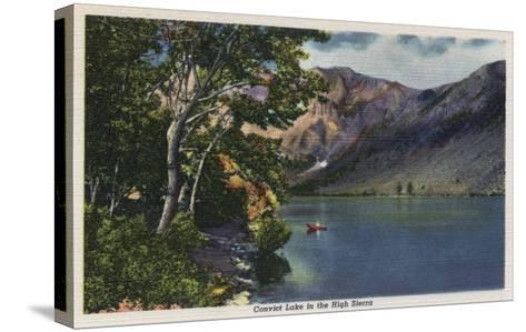California - View of Convict Lake in the High Sierra-Lantern Press-Stretched Canvas Print