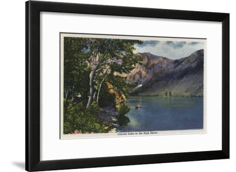 California - View of Convict Lake in the High Sierra-Lantern Press-Framed Art Print