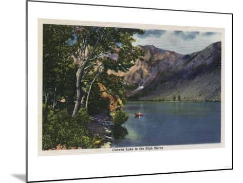 California - View of Convict Lake in the High Sierra-Lantern Press-Mounted Art Print