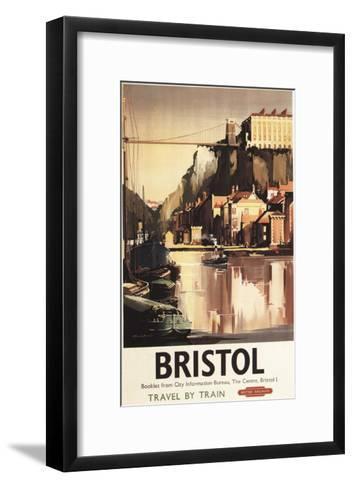 Bristol, England - Clifton Suspension Bridge and Boats British Rail Poster-Lantern Press-Framed Art Print