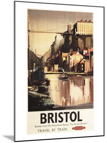 Bristol, England - Clifton Suspension Bridge and Boats British Rail Poster-Lantern Press-Mounted Art Print