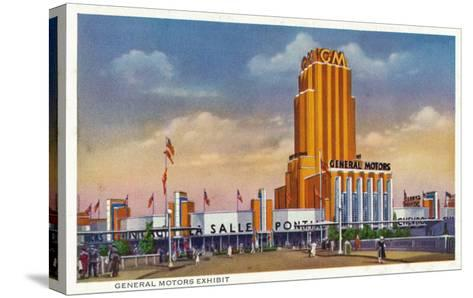 Chicago, Illinois - General Motors Exhibit, 1934 World's Fair-Lantern Press-Stretched Canvas Print