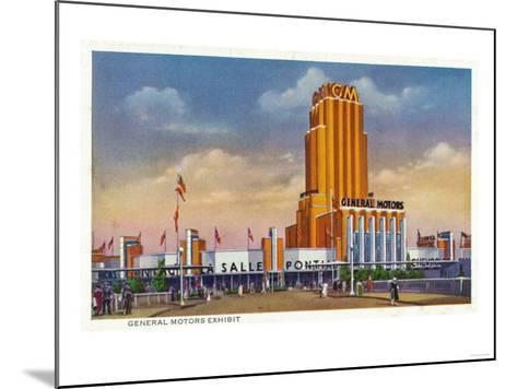 Chicago, Illinois - General Motors Exhibit, 1934 World's Fair-Lantern Press-Mounted Art Print